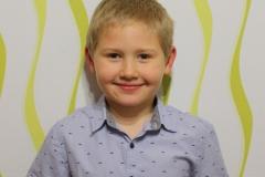 5. helyezett Bálint Kristóf 1. a osztályos tanuló, Mihálik Ágnes tanítványa