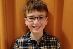 4. helyezett Sprőber Zalán János 3. a osztályos tanuló, Mezeiné Hőgye Erika tanítványa